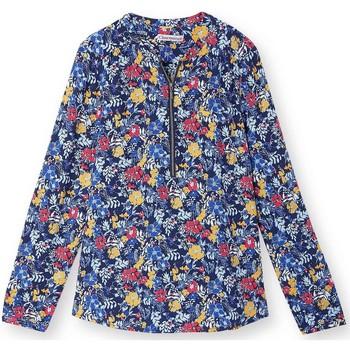 Vêtements Femme Tops / Blouses Kocoon Blouse fluide zippée imprimbleu