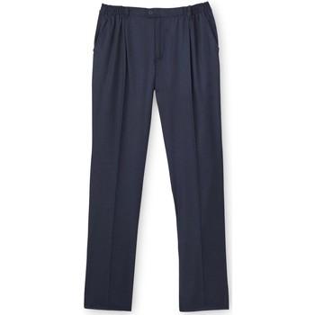 Vêtements Homme Pantalons Honcelac Pantalon droit tout confort marine