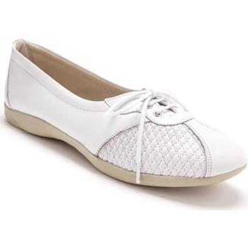 Chaussures Femme Derbies Pediconfort Derbies côtés extensibles cuir blanc