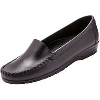 Chaussures Femme Mocassins Pediconfort Mocassins plateau lisse largeur confort noir