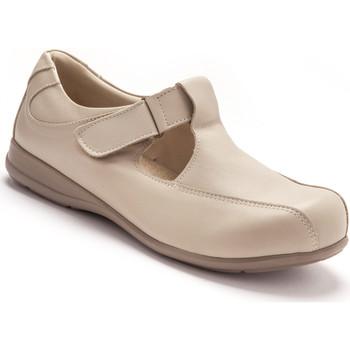 Chaussures Femme Derbies Pediconfort Salomés ultra larges pieds sensibles beige