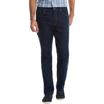 Vêtements Homme Jeans droit Honcelac Jean droit extensible à taille élastiqué bleubrut