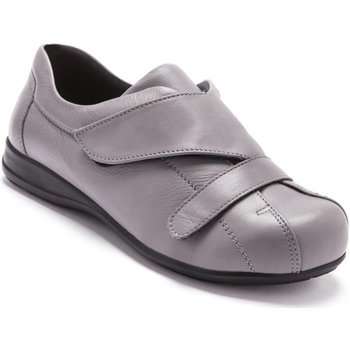 Chaussures Femme Derbies Pediconfort Derbies scratch spécial pieds sensibles gris