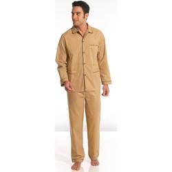 Vêtements Homme Pyjamas / Chemises de nuit Honcelac Pyjama en popeline imprimbeige