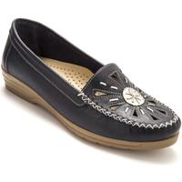 Chaussures Femme Mocassins Pediconfort Mocassins ajourés largeur confort bleu