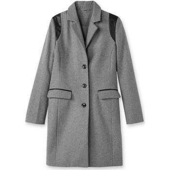 Vêtements Femme Manteaux Balsamik Manteau coupe droite en drap de laine grischin