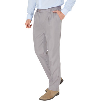 Vêtements Homme Pantalons Honcelac Pantalon droit tout confort gris