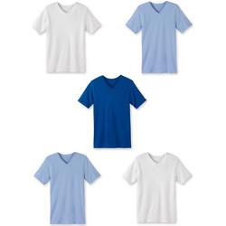 Vêtements Homme T-shirts manches courtes Honcelac Lot de 5 maillots col V manches courtes assortis
