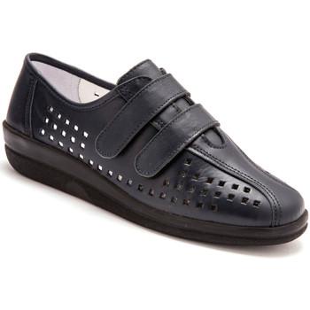 Chaussures Femme Derbies Pediconfort Derbies scratchées à semelle amovible marine