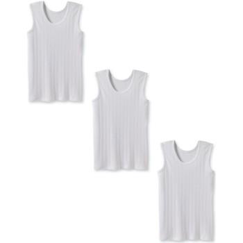 Vêtements Homme Débardeurs / T-shirts sans manche Honcelac Lot de 3 débardeurs maille fantaisie blanc
