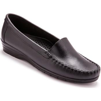 Chaussures Femme Mocassins Pediconfort Mocassins à plateau lisse grande largeur noir