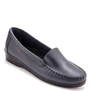 Chaussures Femme Mocassins Pediconfort Mocassins plateau lisse largeur confort marine