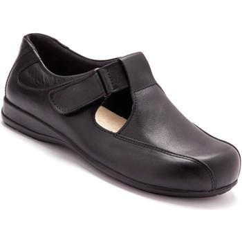Chaussures Femme Derbies Pediconfort Salomés ultra larges pieds sensibles noir