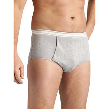 Sous-vêtements Homme Slips Honcelac Lot de 3 slips ouverts côtes plates grischin