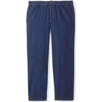 Vêtements Homme Jeans slim Honcelac Jean droit taille élastiquée denimstone