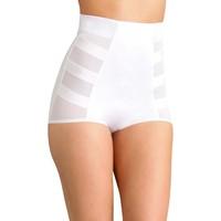 Sous-vêtements Femme Culottes gainantes Balsamik lot de 2 culottes gainantes montantes blanc