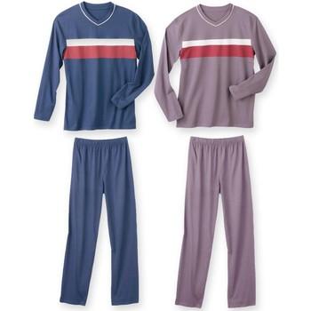 Vêtements Homme Pyjamas / Chemises de nuit Honcelac Lot de 2 pyjamas jersey assortis