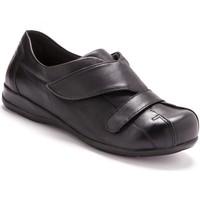 Chaussures Femme Derbies Pediconfort Derbies scratch spécial pieds sensibles noir