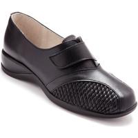 Chaussures Femme Derbies Pediconfort Derbies scratch extensibles ultra légers noir