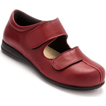 Chaussures Femme Derbies Pediconfort Derbies cuir pour pieds ultra-sensibles rouge