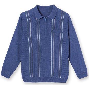 Vêtements Homme Polos manches longues Honcelac Polo manches longues bleu
