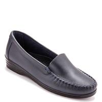 Chaussures Femme Mocassins Pediconfort Mocassins à plateau lisse grande largeur marine
