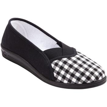 Chaussures Femme Chaussons Charmance Sans-gêne imprimés carreaux ou fleurs carreauxnoir