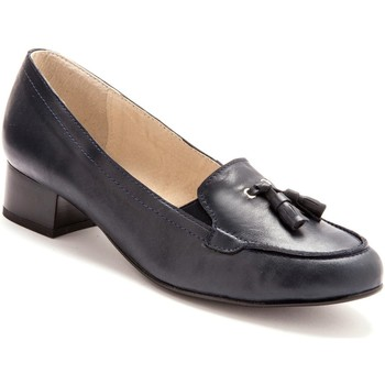 Chaussures Femme Escarpins Pediconfort Trotteurs à pompons cuir marine