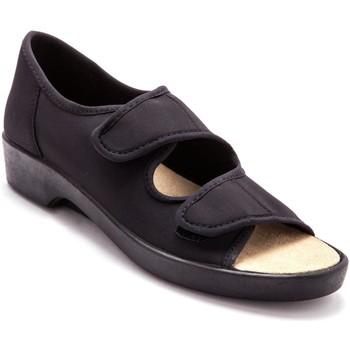 Chaussures Femme Sandales et Nu-pieds Pediconfort Sandales extra larges maille extensible noir