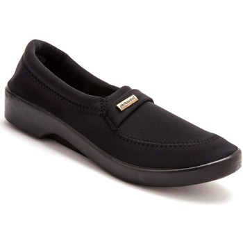Chaussures Femme Mocassins Pediconfort Mocassins extensibles grande largeur noir