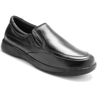 Chaussures Homme Mocassins Pediconfort Sans-gêne en cuir semelle amovible noir