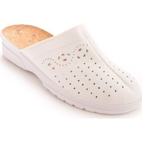 Chaussures Femme Sabots Pediconfort Sabots cuir à galbe anatomique blanc