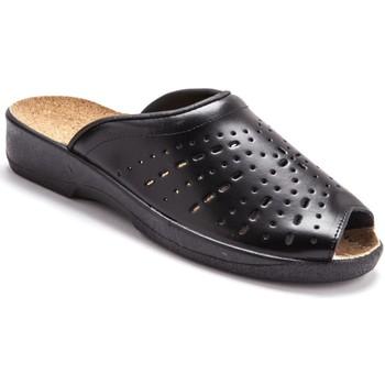 Chaussures Femme Mules Pediconfort Mules en cuir à galbe anatomique noir