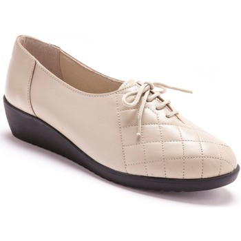Chaussures Femme Derbies Pediconfort Les derbies cuir devant matelassé beige