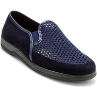 Chaussures Homme Mocassins Honcelac Sans-gêne extra larges en cuir marine