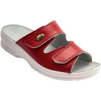 Chaussures Femme Mules Pediconfort Mules à scratch extra larges rouge