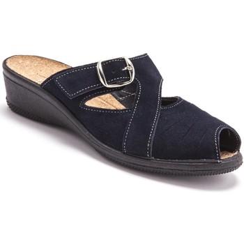 Chaussures Femme Mules Pediconfort Mules réglables intérieur liège marine