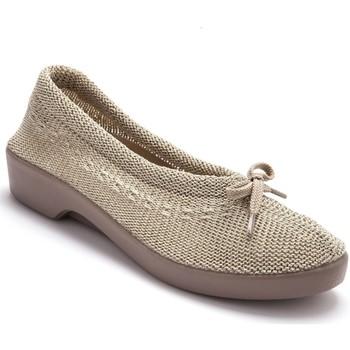 Chaussures Femme Ballerines / babies Pediconfort Ballerines au dessus tricoté beige