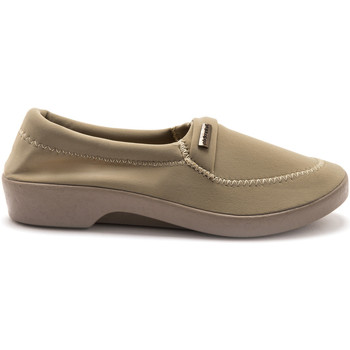 Chaussures Femme Mocassins Pediconfort Mocassins extensibles grande largeur beige