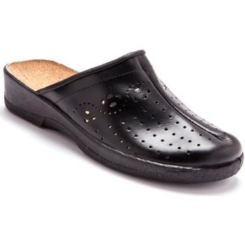 Chaussures Femme Sabots Pediconfort Sabots cuir à galbe anatomique noir