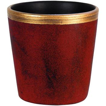 Maison & Déco Vases, caches pots d'intérieur Décolines Petit Cache pot Rouge et Or Egg Luxy en céramique 12 cm Rouge