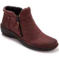 Chaussures Femme Boots Pediconfort Boots ultra légers à semelle amovible bordeaux