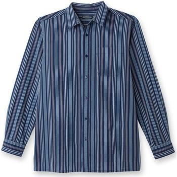 Vêtements Homme Chemises manches longues Honcelac Chemise manches longues raybleu
