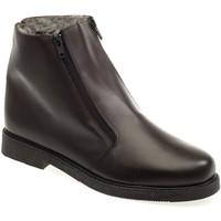 Chaussures Homme Boots Pediconfort Bottillons fourrés extra-larges homme marron