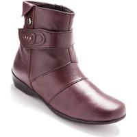 Chaussures Femme Boots Pediconfort Boots à patte fantaisie doublés polaire bordeaux