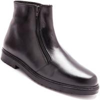 Chaussures Homme Boots Pediconfort Bottillons fourrés extra-larges homme noir