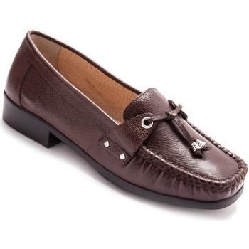 Chaussures Femme Mocassins Pediconfort Mocassins en cuir marron