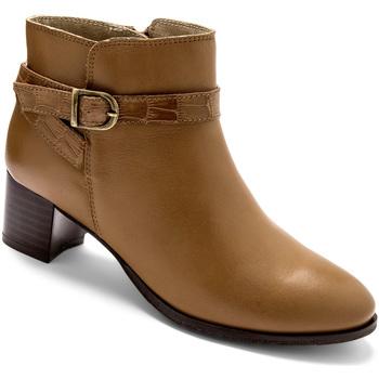Chaussures Femme Boots Pediconfort Boots fermées par glissière camel