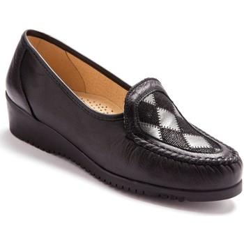 Chaussures Femme Mocassins Pediconfort Mocassins en cuir ultra souples noir