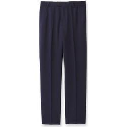 Vêtements Homme Chinos / Carrots Honcelac Pantalon de ville entièrement élastiqué marine